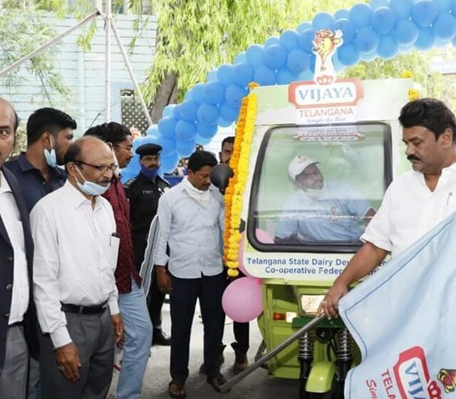 Vijaya Dairy Electric vehicle Launch